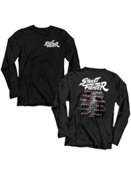 Street Fighter Gaming Versus Front & Back Image Adult Long Sleeve T-Shirt Graphic Tee
