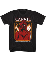 Carrie Horror Movie They're All Gonna Laugh At You Adult Short Sleeve T-Shirt
