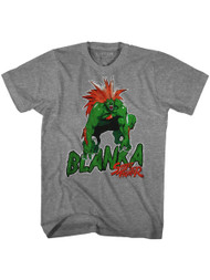 Street Fighter Gaming Blanka Adult Short Sleeve T-Shirt Graphic Tee