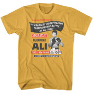 Muhammad Ali The Greatest Heavyweight Championship Battle of All Time Image Adult Short Sleeve T-Shirt Graphic Tee