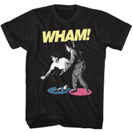 Wham 80s Pop Music Dancing Profile Image Adult Short Sleeve T-Shirt Graphic Tee
