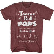 Tootsie Pops Candy Filled With Delicious Tootsie Roll Vintage Look Adult T-Shirt Graphic Tee