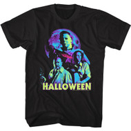 Halloween Movie Neon Moon Michael Myers Adult Short Sleeve T-Shirt Graphic Tee