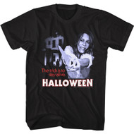 Halloween Movie The Trick Is To Stay Alive Adult Short Sleeve T-Shirt Graphic Tee