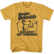 Happy Gilmore 90s Movie Shooter McGavin's Gold Jacket Golf Tournament Adult Tee