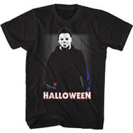 Halloween Movie Michael Myers In The House Adult Short Sleeve T-Shirt Graphic Tee