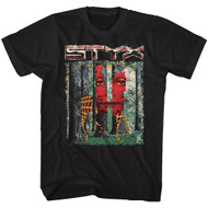 STYX Band The Grand Illusion Album Cover Adult Short Sleeve T-Shirt Graphic Tee