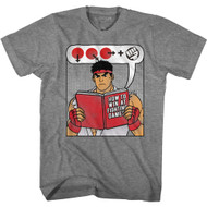 Street Fighter Gaming Ryu How to Win at Fighting Games Book Adult Short Sleeve T-Shirt Graphic Tee