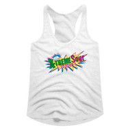 Smarties Candy X-Treme Sour Ladies Racerback Tank Top Graphic Tee