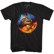 Street Fighter Gaming Ryu and Ken Masters Graphic Adult Short Sleeve T-Shirt Tee