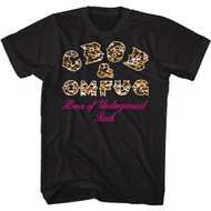CBGB & OMFUG NYC Music Club Home of Underground Leopard Logo Rock Adult Short Sleeve T-Shirt Graphic Tee