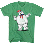 The Real Ghostbusters 80s Movie Merry Mr. Stay Puft Adult Short Sleeve T-Shirt Graphic Tee