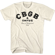 CBGB & OMFUG NYC Music Club Home of Underground Rock Adult Short Sleeve T-Shirt Graphic Tee