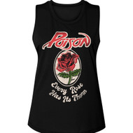 Poison Rock Band Every Rose Has Its Thorne Ladies Muscle Tank Top Graphic Tee