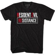 Resistance Evil Gaming RE: Resistance Logo Adult Short Sleeve T-Shirt Graphic Tee