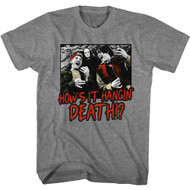 Bill & Ted's Excellent Adventure 80s Movie How's It Hangin' Death Adult Short Sleeve T-Shirt Graphic Tee