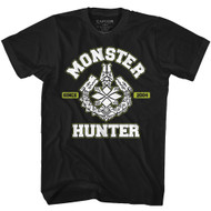 Monster Hunter Gaming MH Since 2004 Adult Short Sleeve T-Shirt Graphic Tee