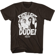Bill & Ted's Excellent Adventure 80s Movie Excellent Dude Adult Short Sleeve T-Shirt Graphic Tee