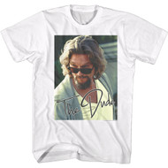 The Big Lebowski 90s Movie The Dude Shades Down Adult Short Sleeve T-Shirt Graphic Tee