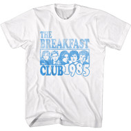 The Breakfast Club 80s Movie Faded Characters 1985 Image Adult Short Sleeve T-Shirt Graphic Tee