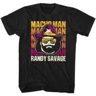 Macho Man Randy Savage Wrestler Adult Short Sleeve T-Shirt Graphic Tee