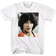 Bill & Ted's Excellent Adventure 80s Movie Ted Face Adult Short Sleeve T-Shirt Graphic Tee