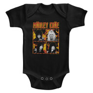 Motley Crue Heavy Metal Band Fire And Wire Band Portraits Infant Short Sleeve Bodysuit