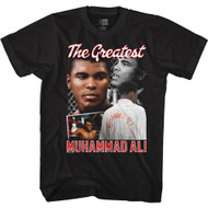 Muhammad Ali Champion Boxer The Greatest Pic Collage Adult Short Sleeve T-Shirt Graphic Tee