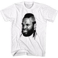 Mr. T Professional Wrestler and Actor Black and White Headshot Adult Short Sleeve T-Shirt Graphic Tee
