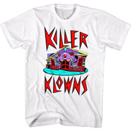 Killer Klowns Movie Crazy House Image Adult Short Sleeve T-Shirt Graphic Tee