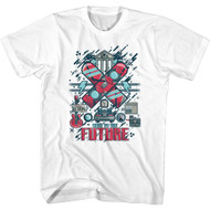 Back to the Future 80s Movie Picture Collage Adult Short Sleeve T-Shirt Graphic Tee