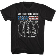 U.S. Army We Fight For Your Freedom Adult Short Sleeve T-Shirt Graphic Tee