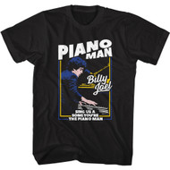 Billy Joel Singer Songwriter Sing Us A Song You're The Piano Man Adult Short Sleeve T-Shirt Graphic Tee