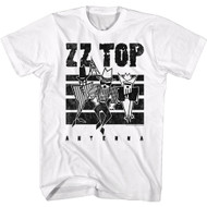 Zz Top Music Antenna Album Cover Adult Short Sleeve T-Shirt Graphic Tee