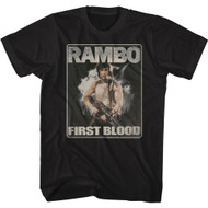 Rambo Movie First Blood Adult Short Sleeve T-Shirt Graphic Tee