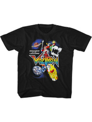 Voltron Animated TV Show Defender Of The Universe Youth Short Sleeve T-Shirt Graphic Tee