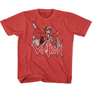 Voltron Animated TV Show Voltron Sketch Youth Short Sleeve T-Shirt Graphic Tee