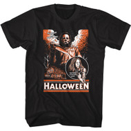 Halloween Movie The Night He Came Home Adult Short Sleeve T-Shirt Graphic Tee