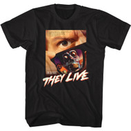 They Live 80s Movie Poster Image Adult Short Sleeve T-Shirt Graphic Tee