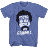 Happy Gilmore 90s Movie You're In My World Now Grandma Adult Short Sleeve T-Shirt Graphic Tee