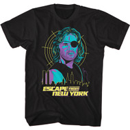 Escape From New York 80s Movie Snake Over City Adult Short Sleeve T-Shirt Graphic Tee