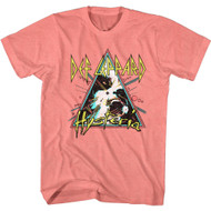 Def Leppard Rock Band Hysteria Triangle Album Image Adult Short Sleeve T-Shirt Graphic Tee