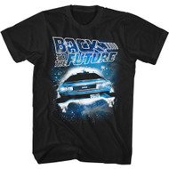 Back To The Future 80s Movie Outatime Adult Short Sleeve T-Shirt Graphic Tee