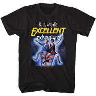 Bill And Ted's Excellent Adventure 80s Movie Space Poster Adult Short Sleeve T-Shirt Graphic Tee