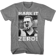 The Big Lebowski 90s Movie Mark It Zero Walter Adult Short Sleeve T-Shirt Graphic Tee