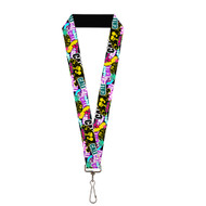 Bright Colorful Cali Marijuana Collage Lanyard