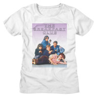 The Breakfast Club 80s Movie Outline Logo Cast Photo Ladies Short Sleeve T-Shirt Graphic Tee