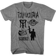 Scareface 80s Movie Tony Montana The World Is Yours Adult Short Sleeve T-Shirt Graphic Tee