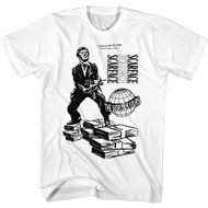 Scareface 80s Movie Tony Black & White Illustration The World Is Yours Adult Short Sleeve T-Shirt Graphic Tee