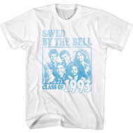 Saved by the Bell Class of 1993 Faded Look Short Sleeve T-Shirt Graphic Tee